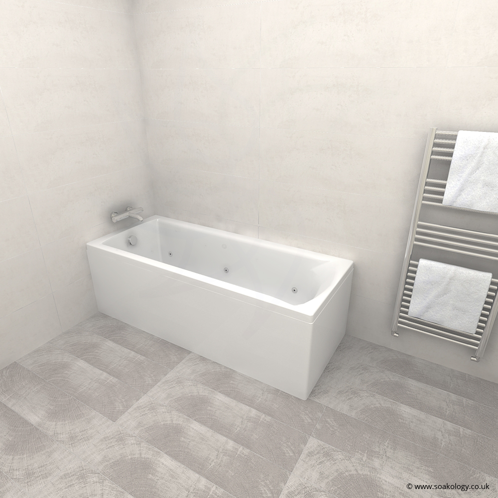 Carron Delta Bath 1700 x 700mm In Carronite With Whirpool System 1 ...