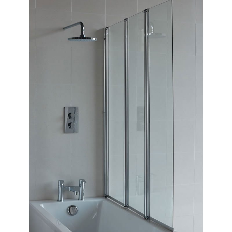 Britton Three Fold Bath Shower Screen Windermere Tiles