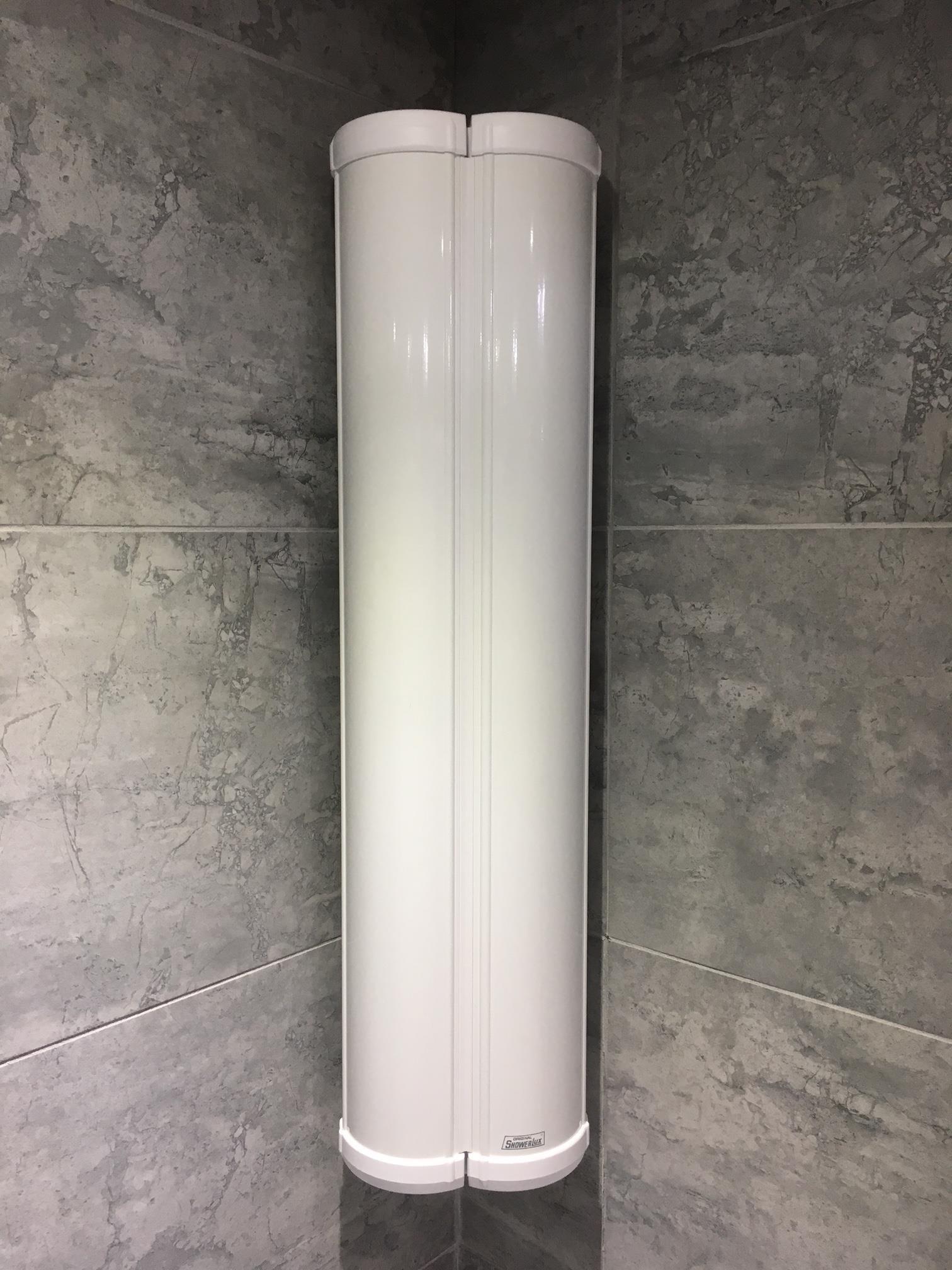 Showerlux Stowaway Shower Caddy Soap Shampoo Holder In